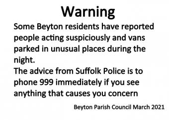 Notice Suspicious Activity