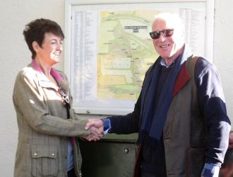 Village Map Unveiled by Jo Churchill MP and David Kemplay